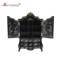 Fine 1:12 Scale Dollhouse Miniature Furniture Black Hand painted Cabinet