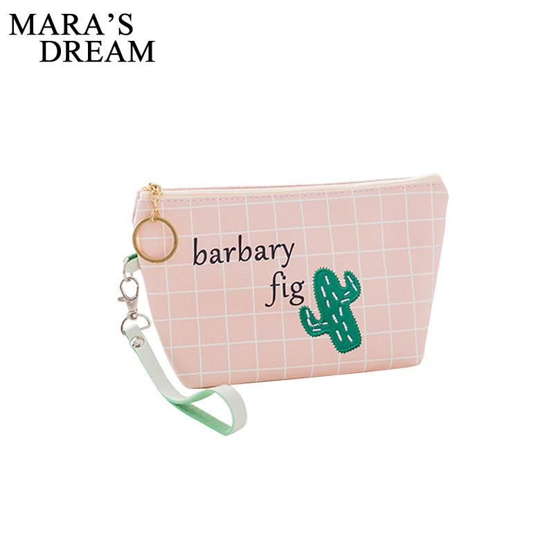 Mara S Dream Barbary Fig Cosmetic Bag Women Makeup Bags Female Zipper Cosmetics Portable Travel Make Up Pouch In Cases From Luggage