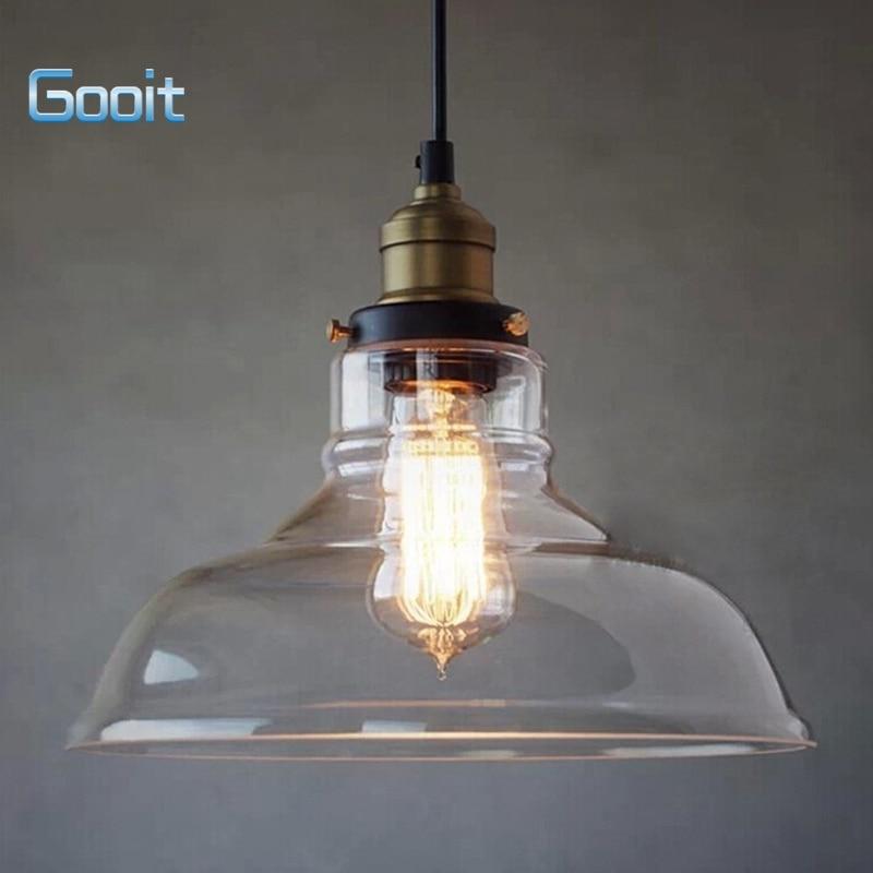 e27 28cm vintage industrial ceiling lamp shade glass pendant lights
