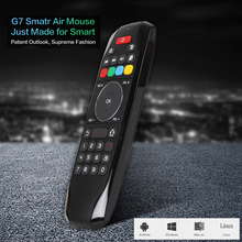 2.4GHz Wireless Gyroscope Air Mouse Sense Motion IR Learning Remote Control Mini Keyboard for Mac OS Android TV Box Windows