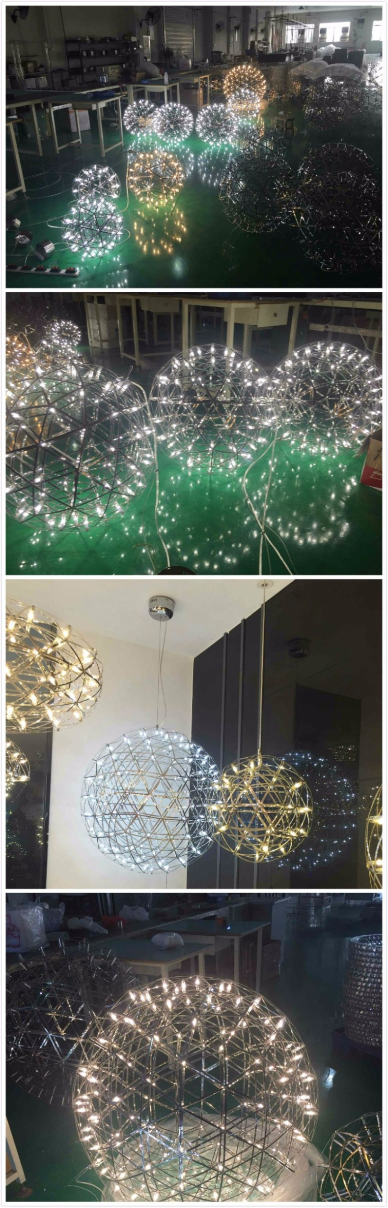 firework stainless steel chandelier led lamp loft 4