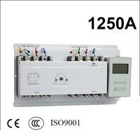 1250A 3 поляки 3 фазы ОВД 220 В/230 В/380 В/440 В автоматический переключатель с английским контроллер
