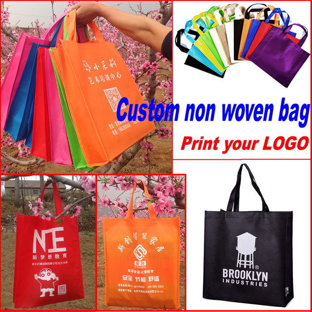 Custom printing logo non woven/gift bag for packaging/shopping bag/non-woven fabrics bag 200pcs/lot  sc 1 st  AliExpress & Custom printing logo non woven/gift bag for packaging/shopping bag ...