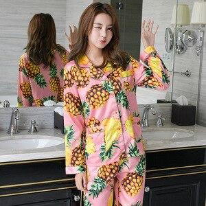 Image 3 - Freshing Summer Printing Women Pajama Set Rayon Long Section Fashion Pajamas