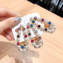 Korea Super Shiny Hair Accessories  Crystal Pearl Alloy BB Clip Side Clips For Girls Bows Hairpins Barrette Hairgrips