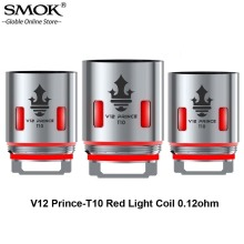 3pcs/lot SMOK TFV12 Prince-T10 Red Light V12 Prince T10 Coil 0.12ohm Vape Head Core For TFV12 Prince Tank Resa Prince/Mag Kit