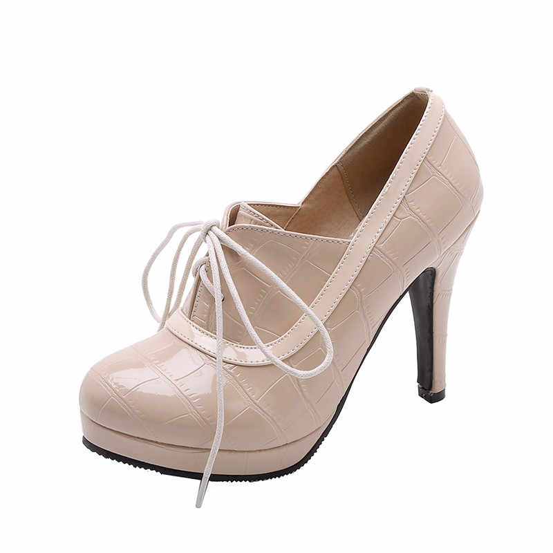 SARAIRIS 2019 Büyük Boy 34-43 Retro Zarif platform ayakkabılar Ince Yüksek Topuklu Ofis Bayan Ayakkabı Kadın Ayakkabı Kadın Pompaları