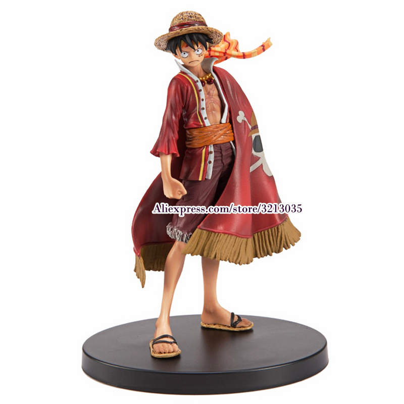 Anime One Piece Monkey D Luffy The Ultimate King Ver. Red Cloak PVC Action Figures Juguetes OP Luffy Collectible Model Toys 18cm image