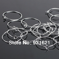 29*25MM 500pcs/lot Silver Plated Earring Hoops/Wine Glass Charm Rings  D0274