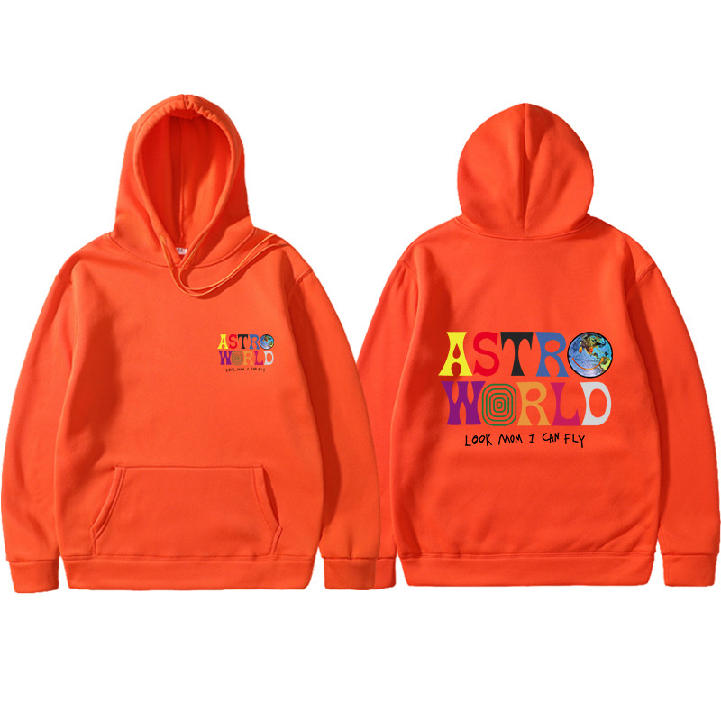 2019 Streetwear Screw Thread Cuff Hoodies ASTROWORLD Look Mom I Can Fly Hoodie Pullover TRAVIS SCOTT Men Women Hoodie Sweatshirt