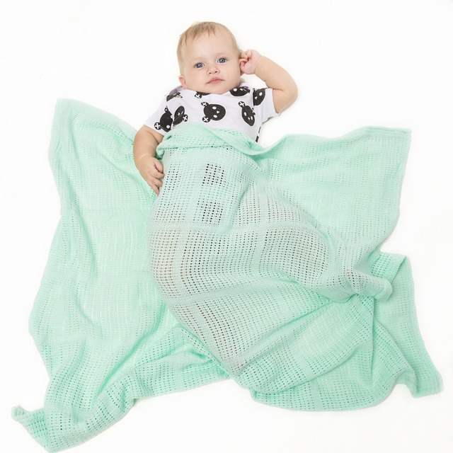 Solid Color Cotton Baby Blanket