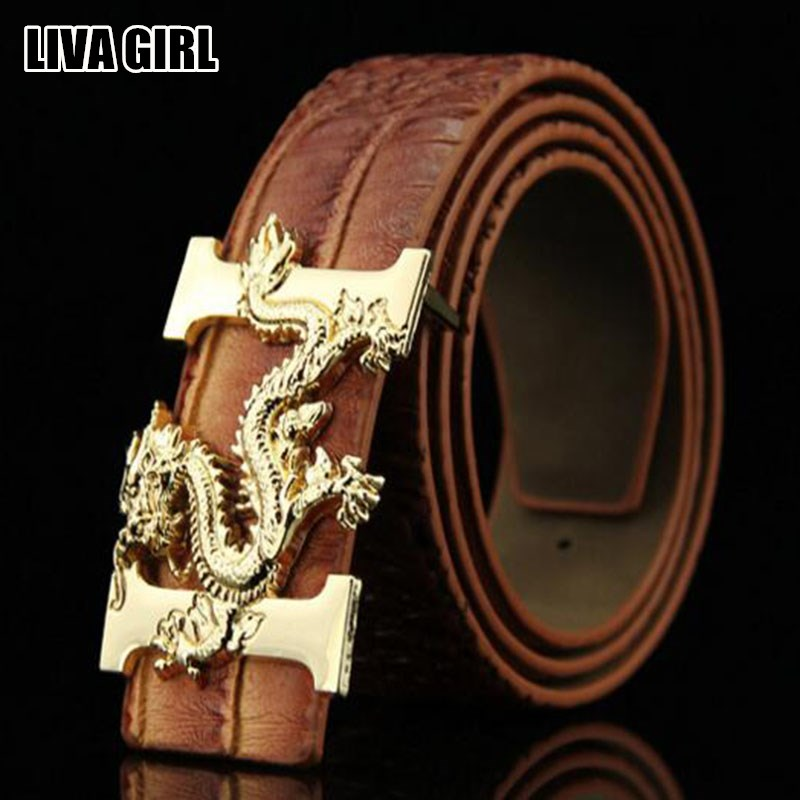 Cool Belts Part - 49: Liva Girl Trendy Cool Stylish Casual Menu0027s Belts PU Leather Dragon Pattern  Buckle Belt Waistbands Fashion Accessories Male Gifts-in Belts U0026  Cummerbunds From ...