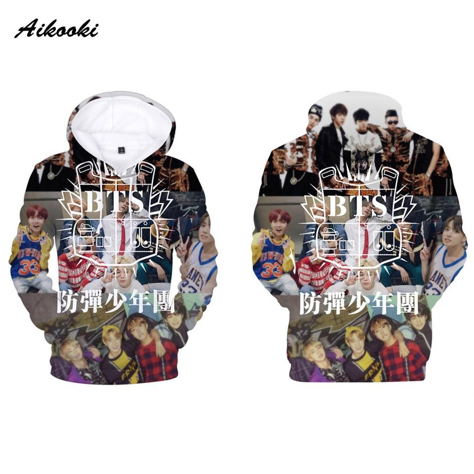 BTS 3D Hoodies Men Women Hot 3D Hoodies Print BTS Harajuku Sweatshirt Hoody Men's BTS Polluvers Fashion Hooded Man Plus Size