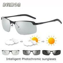 37e8eeb1ebbc Belmon поляризованных солнцезащитных очков Для мужчин Брендовая  Дизайнерская обувь драйвер интеллектуальные фотохромные солнцеза.