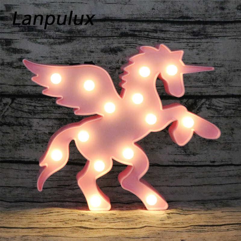 Lanpulux jednorożec koń z skrzydło lampki nocne LED zwierząt zabawki dla dzieci lampka nocna wakacyjny domowe lampki dekoracyjne ciepły biały kostium