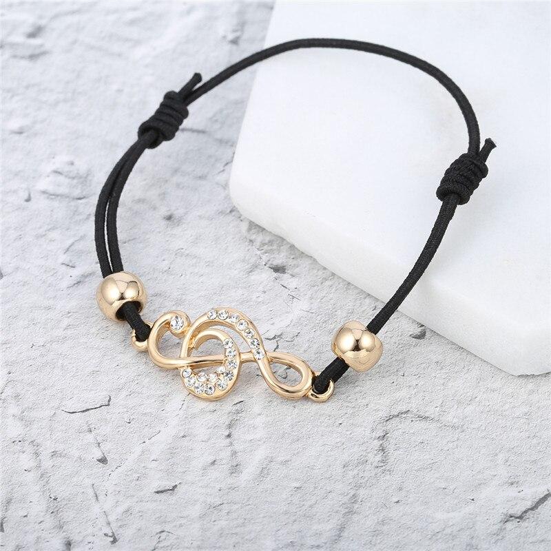 Gold Tiny Treble Clef Bracelet Music Jewelry