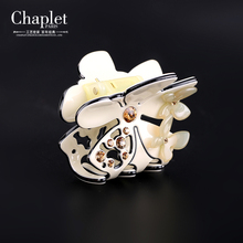 Chaplet 2016 New High Quality French Romantic Women Hair Accessories Rhinestone Hollow Hair Claws Hair Jewelry Free Shipping