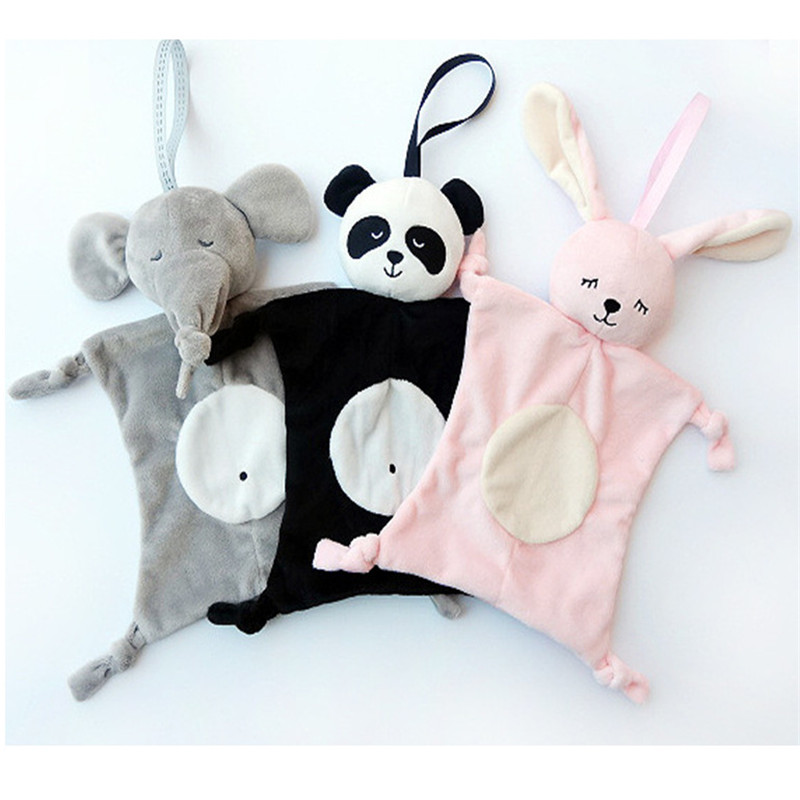Newborn Blankie Soothing Towel Of Baby Toys Animal Shape Infant Baby Gift Soft Soothe Towel Educational Plush Toys