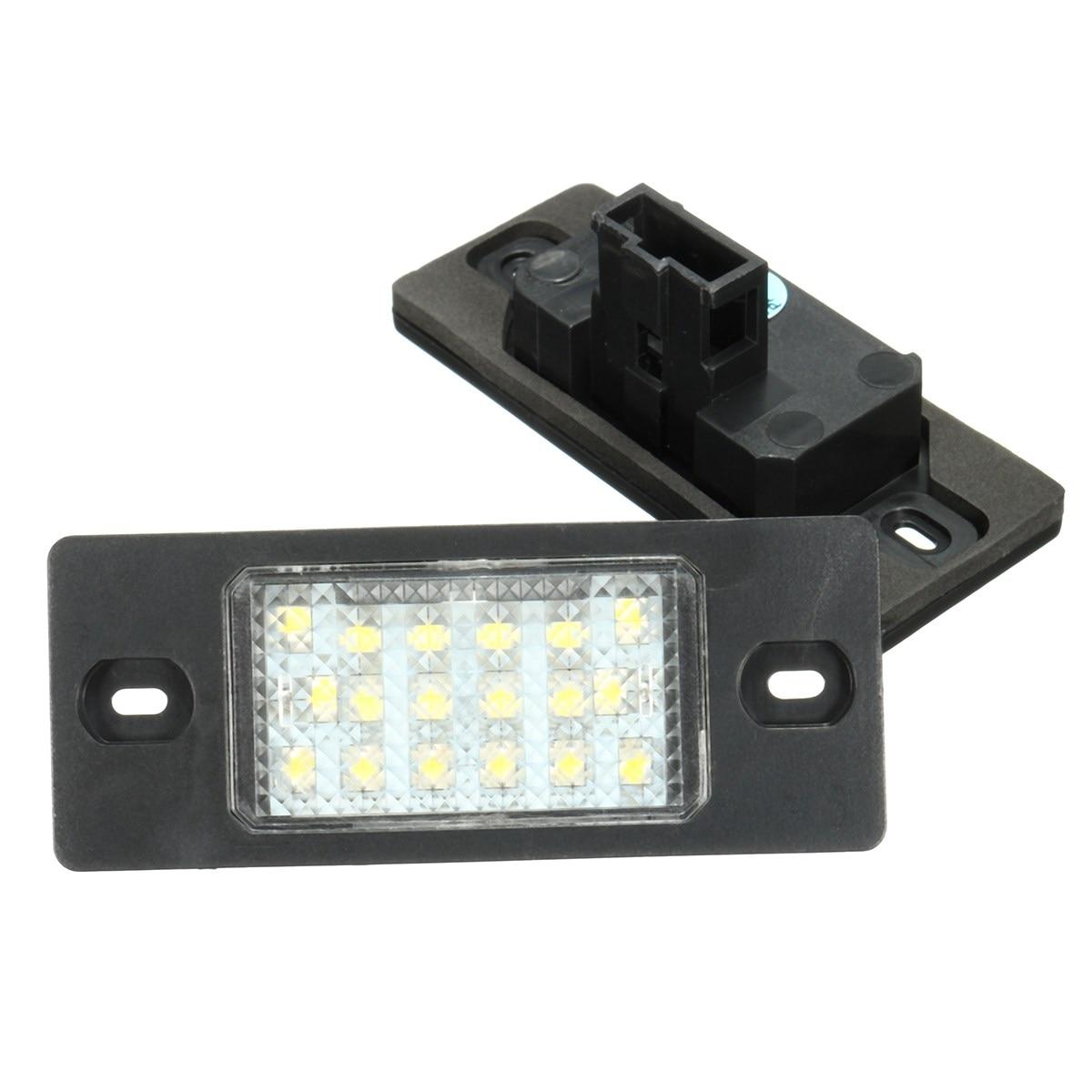 ✅2 unids 18 LED Marcos de matrícula luces smd3528 luz de la ...