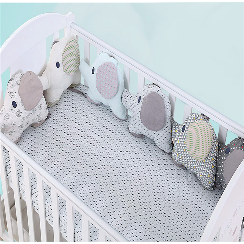 6PCS Baby Bed Bumper Flexible Combination Backrest Cushion Elephant Crib Bumper Soft Infant Bed Around Protection Baby Toy 6pcs lot baby crib bed bumper newborn backrest cushion animal elephant infant toddler bedding around protection