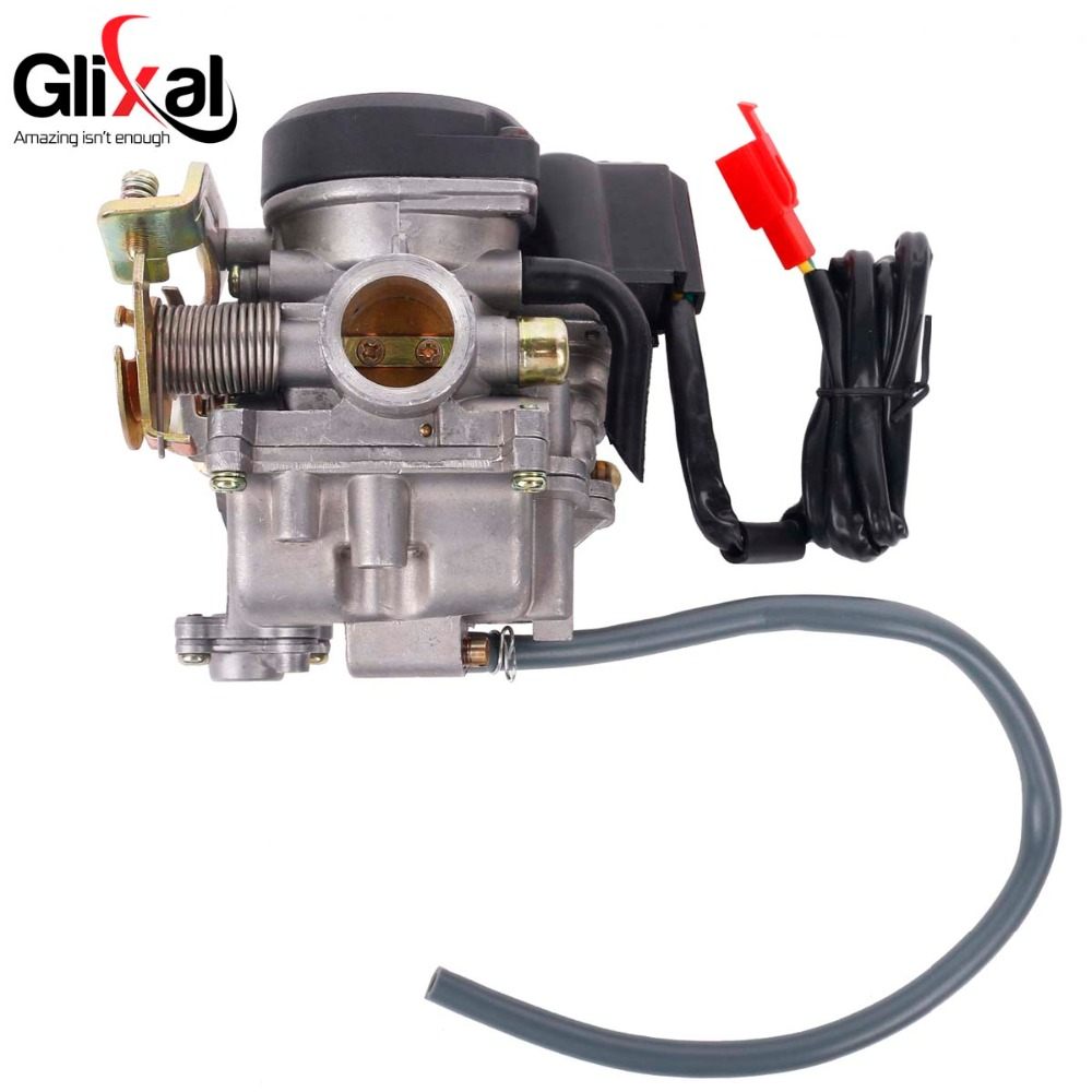 Keihin 20mm Big Bore Carb CVK Keihin <font><b>Carburetor</b></font> for Chinese <font><b>GY6</b></font> <font><b>50cc</b></font> 60cc 80cc 100cc 139QMB 139QMA Scooter Moped ATV Go-Kart image