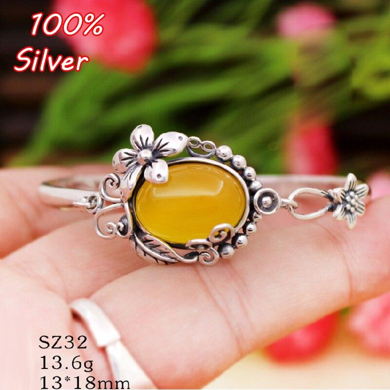 2019 nouvelle mode 925 argent Sterling Base ovale blanc Fit 13*18mm incrusté de Bracelet de cire paramètres Bracelet fabrication de bijoux