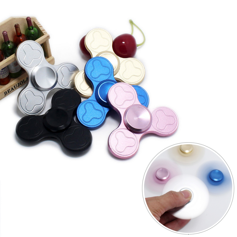 Tri-Spinner Fidget Plum Blossom Finger Gyro Puzzle Toy Alloy EDC Hand Spinner For Autism ADHD Kids Educational Toys Hobbies Gift