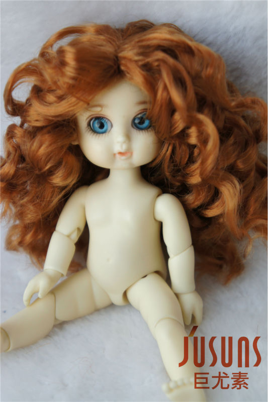 Lati White doll wigs 1tiny Synthetic mohair BJD Wig Middle part line Long curly wig 3-4inch Classic hair jd002 lati yellow doll wig 1 8 5 6inch synthetic mohair bjd wigs fountain lovely tiny doll wigs