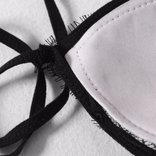 Bandeau Bandage Lace Crochet Push Up Swimwear