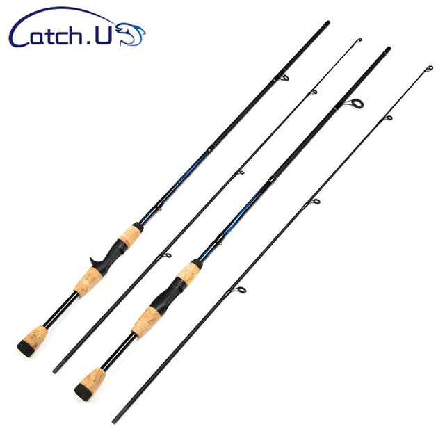 Catch U 1.7M/1.8M M Action 6-12g Test Casting Spining Carbon Lure Fishing Rods, Hard Fishing Pole
