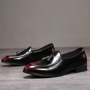 Image 2 - الرجال فستان أحذية اليدوية حذاء رجالي Paty الجلود أحذية الزفاف الرجال الشقق الجلود أوكسفورد الأحذية الرسمية