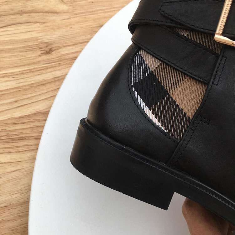 Tela As De Cinturón Chelsea Famoso Botas Metálico Hebilla Marca Tobillo Bien Retro Cheque Cuero Show Clásico La 18 Dama Mujeres Las Zapatos Rp77Tq
