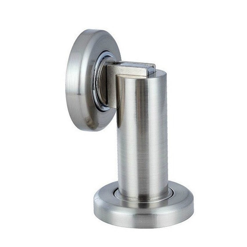 Two use stain Silver Zinc door stopper classical door stops strong magnetism plastic uptake Free shipping with screw fitting ledron strong silver