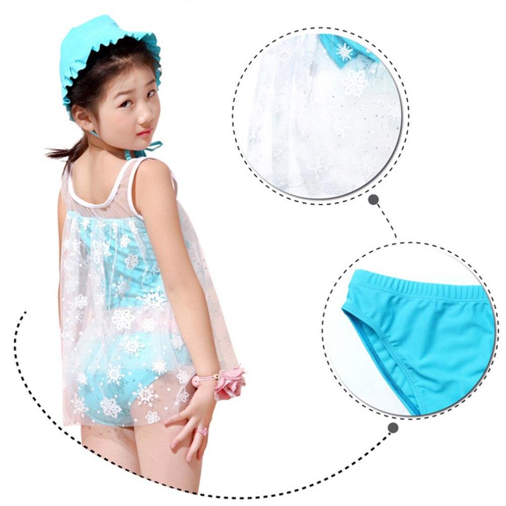 ФОТО HW2016 New 3PCS Girls Lovely Lace Swim Suits Kid Swimwear Bikini Skirts Good Quality Best price