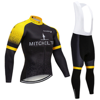 Winter 2019 MITCHELTON cycling jersey Black 12D pad bike pants set MTB Ropa Ciclismo Thermal fleece bicycling Maillot culottes