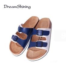 DreamShining Casual Sandales Hot Summer Style Pantoufles En Cuir Souple Extérieure Mâle Sandlias Respirant Plat Chaussures Sandales Pour Homme