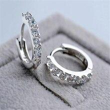 Crystal Stone Hoop Earrings