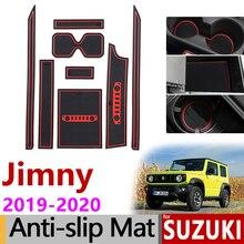 Противоскользящий коврик для телефона ворота шлифовальные маты чашки резиновые колодки для Suzuki Jimny JB64 JB74 Jimny Sierra аксессуары наклейки