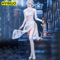 1/6 Scale MM011 Sexy Neil Sexy Girl Lace Cheongsam Sexy Robot 2B Sister Dress Set Sculpt Model 12' Full Set Action Figure Dolls