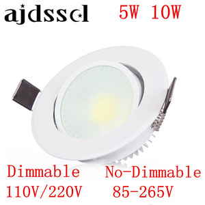LED Downlight Recessed Led COBDownlight dimmable AC85-265V 5W 10W Ceiling Lamp Indoor Lighting with Led driver Led Spot Lighting
