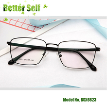 Square Spectacles Metal Glasses Men Women Optical Frames BSX6623 Retro Wide Brimmed Eyeglasses Can Fit High Prescription Lens