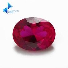 Размер 3x5~ 13x18 мм овальная огранка 5# красный камень синтетические драгоценные корундовые камни камень для ювелирных изделий