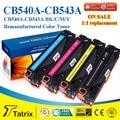 Совместимый цветной тонер картридж CB540 для HP Laserjet Printer with A + + + класс качества, бесплатная доставка