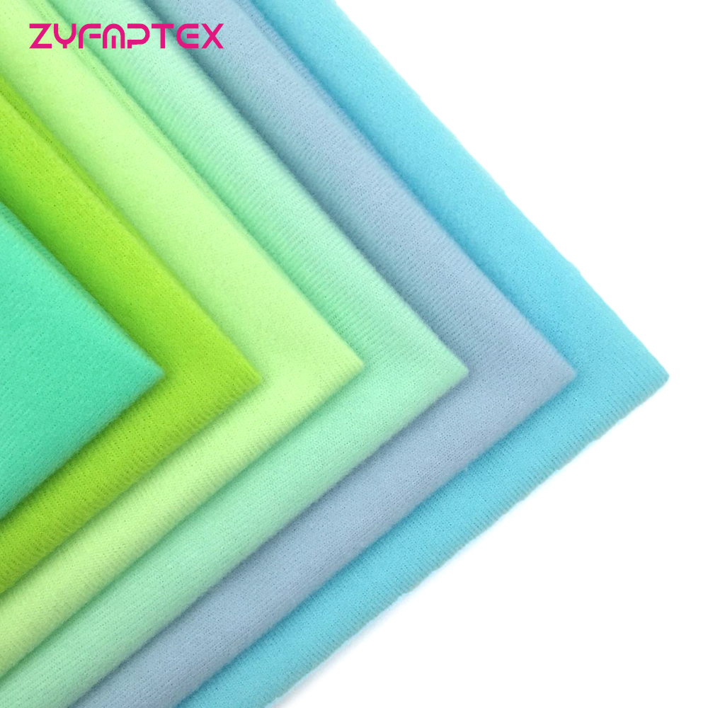 ZYFMPTEX Polyester Fleece Fabric Brushed Light Blue Green Velboa Velvet For Patchwork Sewing Plush Felt Cloth DIY Doll Stuff Toy(China)
