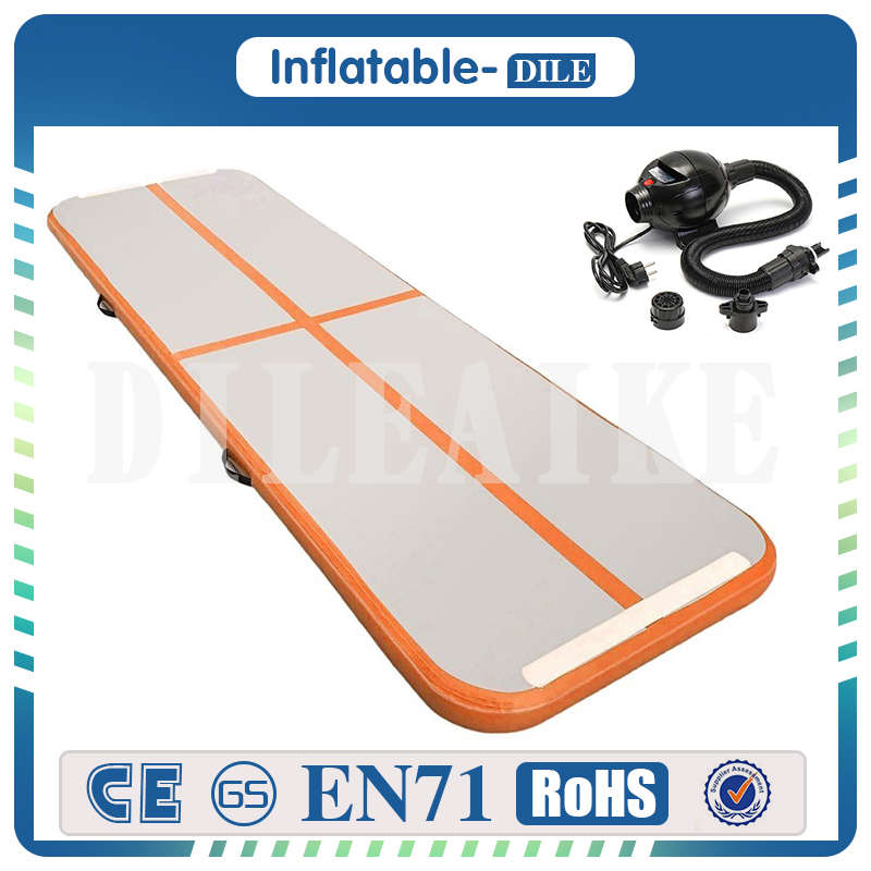 Free Shipping Door To Door 4x1x0.1m Inflatable Air track Kids Training Gym Mat Gymnastic Jumping Mat Inflatable AirTrack