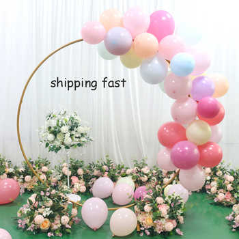 Artificial Wedding backdrop wrought iron ring arch shelf flowers balloon decorations party event supplies flower arch stand - DISCOUNT ITEM  40% OFF All Category