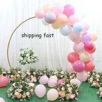 Artificial casamento pano de fundo anel de ferro forjado arco prateleira flores balão decorações festa evento suprimentos flor arco suporte