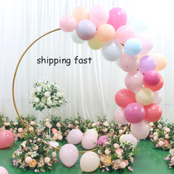 Single hoop Wedding arch backdrop wrought iron ring arch flowers balloon arch decorations party event flower arch stand