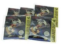 5 Zestawów Alicja Folk Acoustic Guitar String 1st-6th Światła Napięcie Użądlenia Ze Stali Nierdzewnej (. 012-.053)