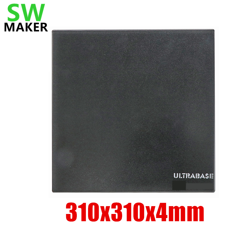 310x310x4mm 400Deg Upgrade Ultrabase 3D Printer Self adhesive Build Surface Glass plate for Creality CR 10